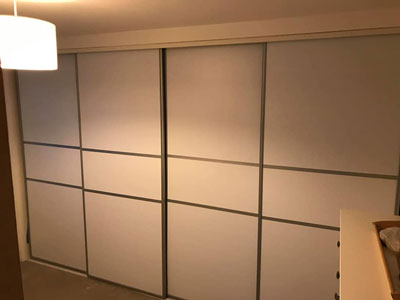 Wardrobe doors colour change with TECHFITUKs vinlys - Matte white Domestic works - Benton - Newcastle upon Tyne