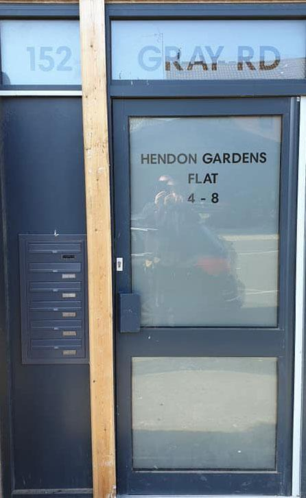 2. Privacy etch frost cut to clients specifications - Hendon Gardens - AFTER