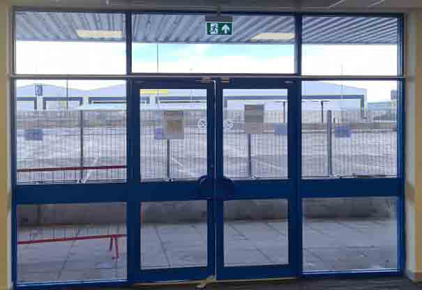 5.1 Homepage Image - Removed internal and external digital prints and installed internal clear 175 blast securityfilm at HMRC in Wincanton new border control unit